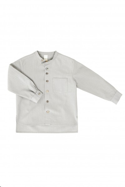 BAND-COLLAR SHIRT LINETTE – image 1